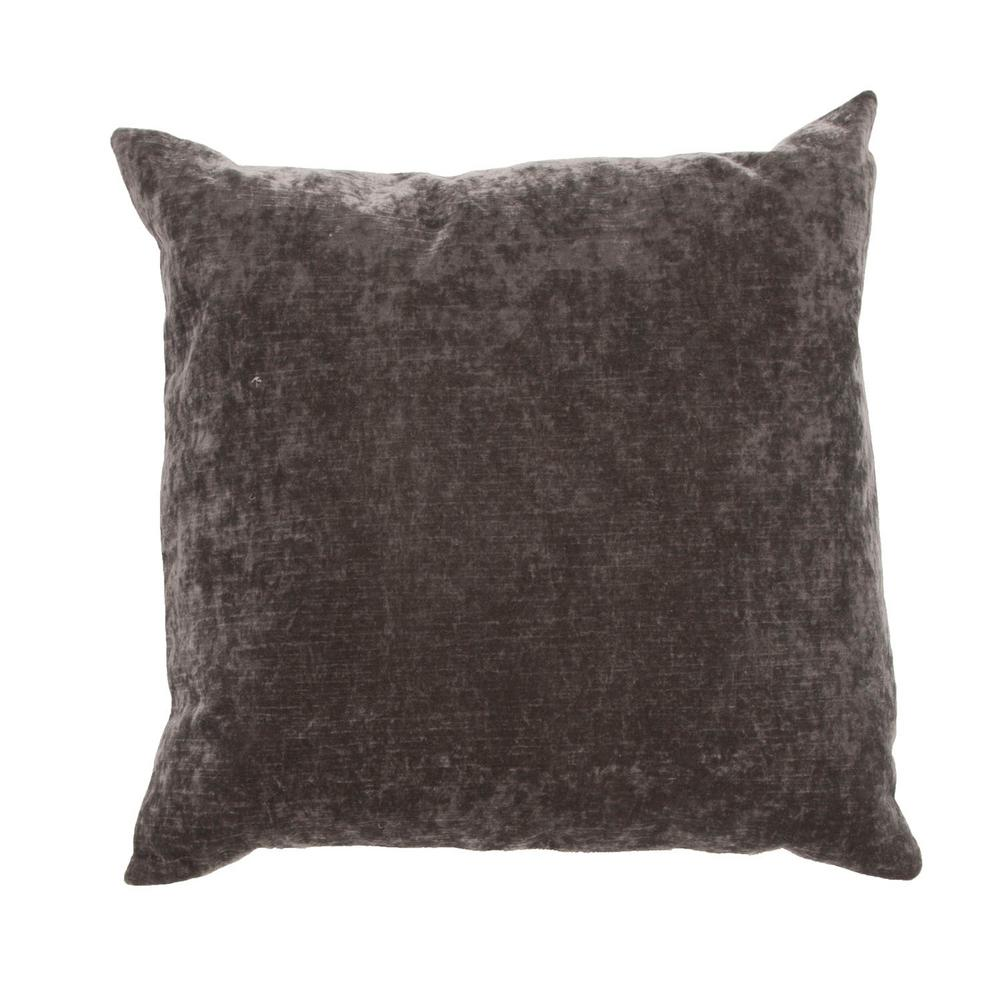 Jaipur Living Luxe Charcoal Gray Poly Decorative Pillow-PLW16 ...