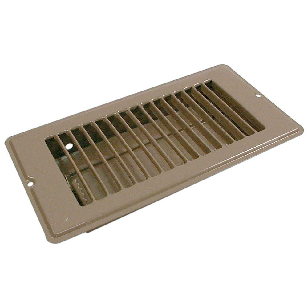 4 in. x 8 in. Steel Floor Register with 1-5/16 in.