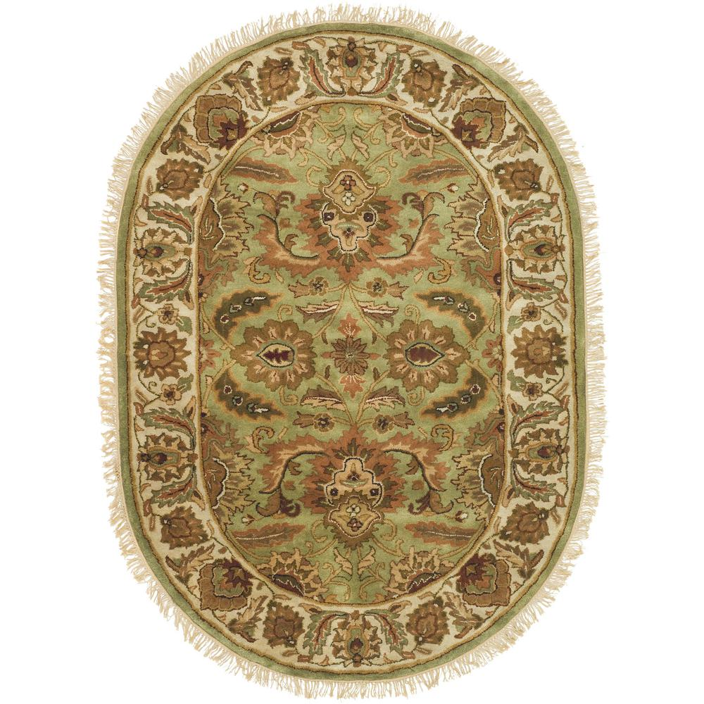 Classic Light Green/Ivory 4 ft. 6 in. x 6 ft. 6