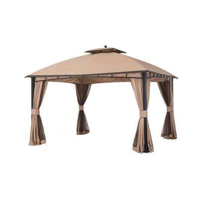 12 ft. x 10 ft. Gold and Brown Edge Mirage Gazebo