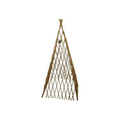 14 in. W x 60 in. H Classic Willow Expandable Trellis Teepee