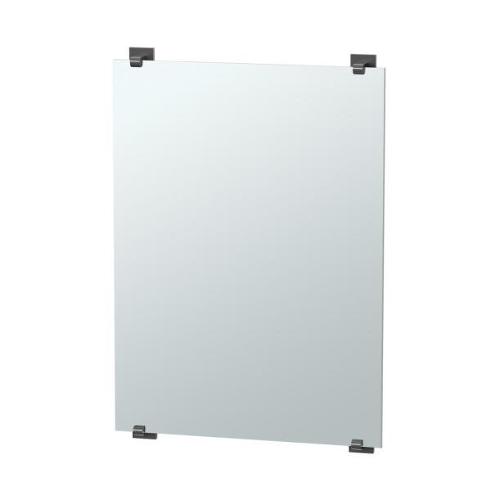 Elevate 32 in. x 22 in. Minimalist Frameless Mirror in Matte Black