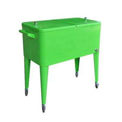 80 Qt. Rolling Patio Cooler Lime