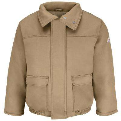 EXCEL FR ComforTouch Men's 2X-Large Khaki Insulated Bomber Jacket