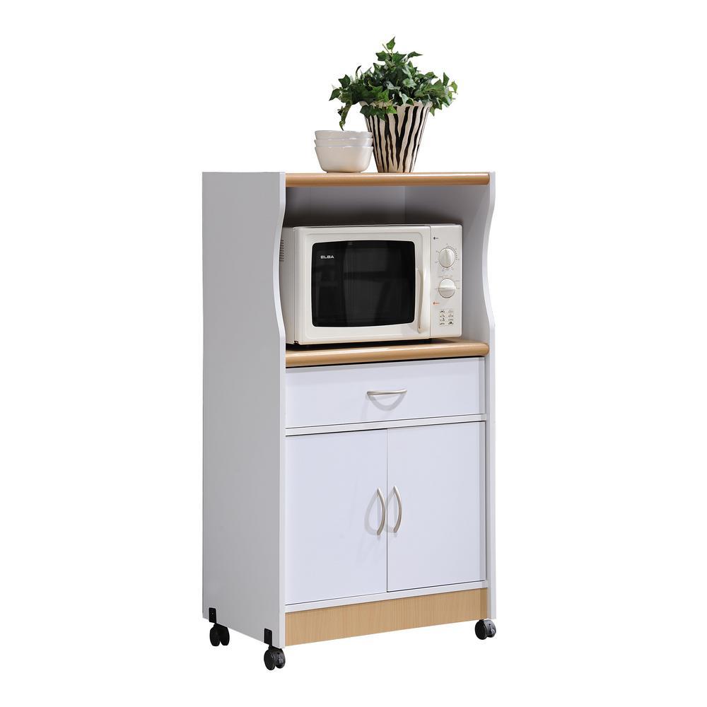 Microwave Cart With Storage Hik77 White