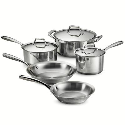 Gourmet Prima 8-Piece Stainless Steel Cookware Set with Lids