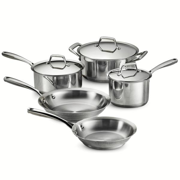 Tramontina Gourmet Prima 8-Piece Stainless Steel Cookware Set with Lids