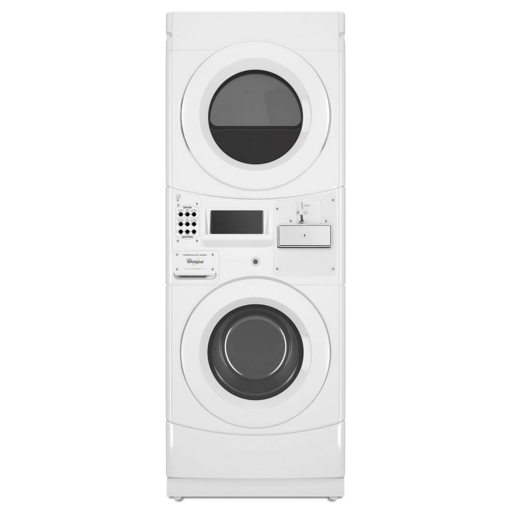 Whirlpool White Commercial Laundry Center with 3.1 cu. ft. Washer and 6.7 cu. ft. 240-Volt Electric Vented Dryer