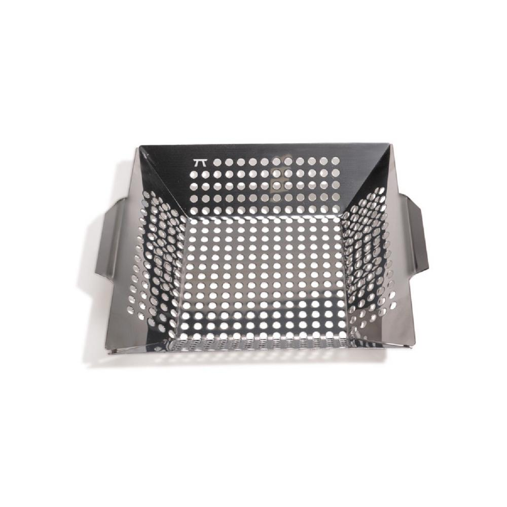 12 in. x 12 in. Stainless Steel Grill Wok with Handles