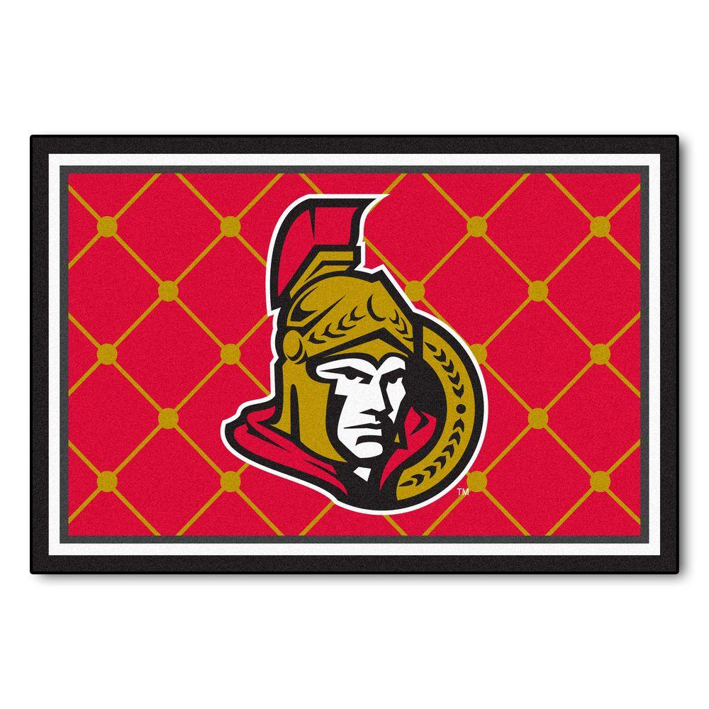 FANMATS Ottawa Senators 5 Ft. X 8 Ft. Area Rug-10431