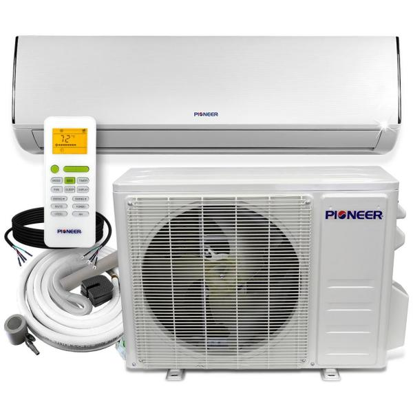 Low-Ambient12,000 BTU 1 Ton 20 SEER Ductless Mini Split Wall Mounted Inverter Air Conditioner with Heat Pump 110/120V
