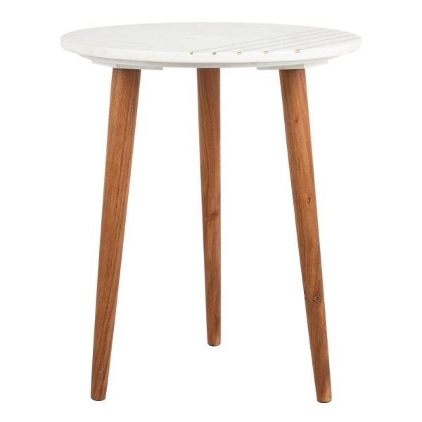 Safavieh Valerie White/Brass End Table ACC7202A