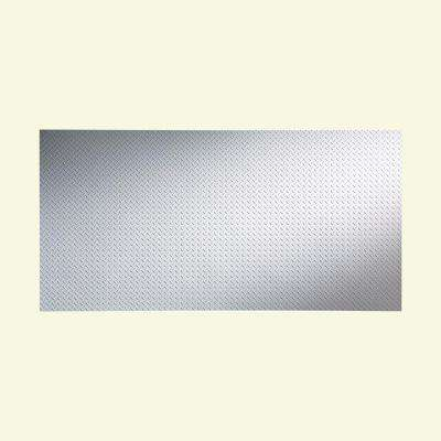 Diamond Plate 96 in. x 48 in. Gloss White Vinyl Decorative Wall Panel