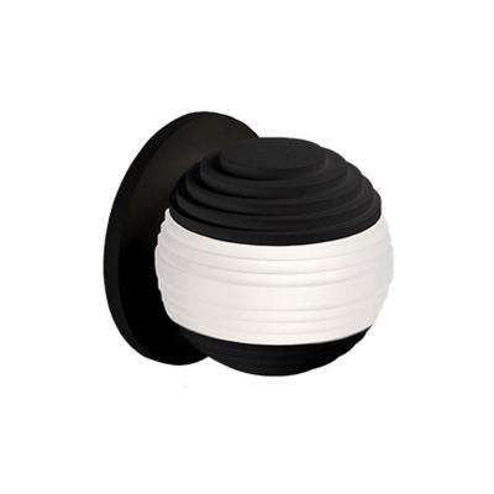 Oxford 40-Watt Equivalence Black Integrated LED Sconce