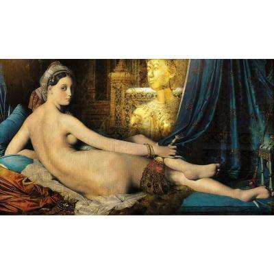 "48 in. x 84 in. ""Odalisque"" by Daniel Stanford Printed Framed Canvas Wall Art"