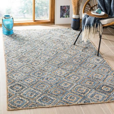 Cape Cod Natural/Blue 8 ft. x 10 ft. Area Rug