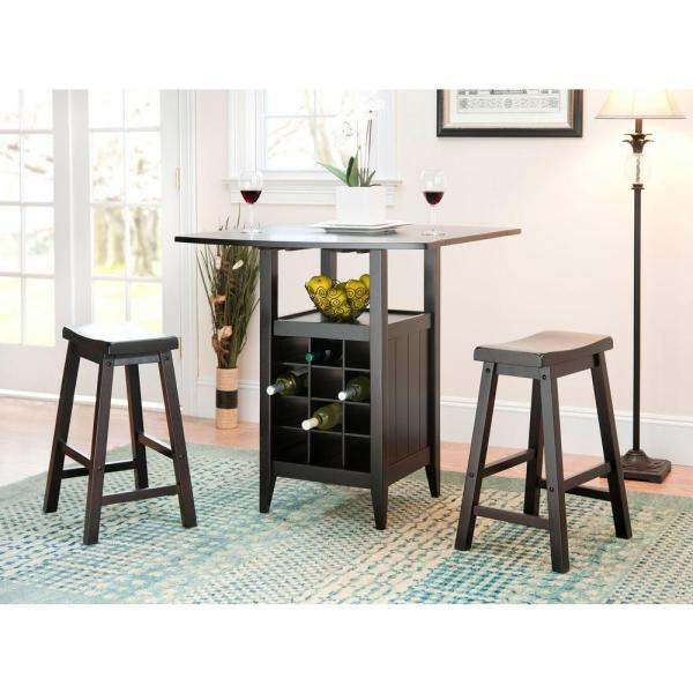 Safavieh Emeric 3 Piece Espresso Bar Table Set Amh8504a