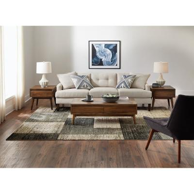 Paramount Gray 10 ft. x 12 ft. Plaid Area Rug