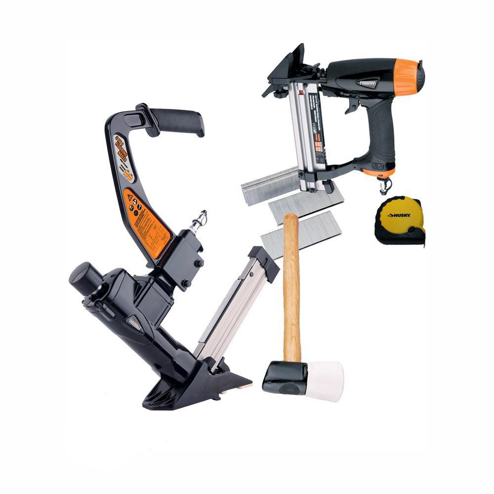 Freeman Ultimate Pneumatic Flooring Nailer Kit with Fasteners (2-Piece) was $399.99 now $199.88 (50.0% off)