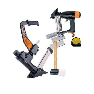 Ultimate Pneumatic Flooring Nailer Kit with Fasteners (2-Piece)