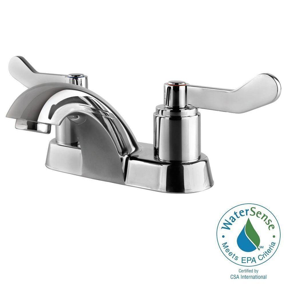 Ultra Faucets Light Commercial Collection 4 in. Centerset 2-Handle ...