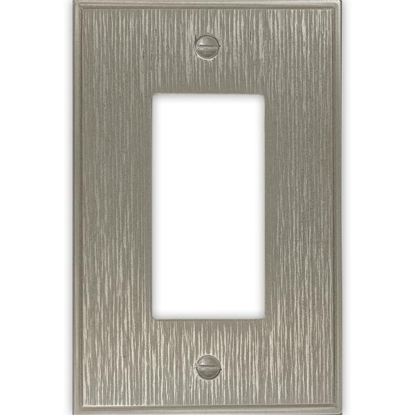 Pearson 1 Gang Decor Brushed Nickel