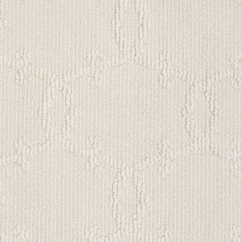 Platinum Plus Carpet Sample Manhattan In Color Cauliflower 8 X