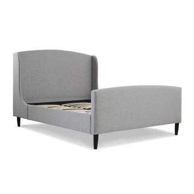 Gia Wingback Queen Bed, Light Grey