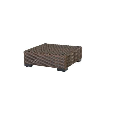 Commercial Dark Brown Wicker Outdoor Ottoman Sectional Chair
