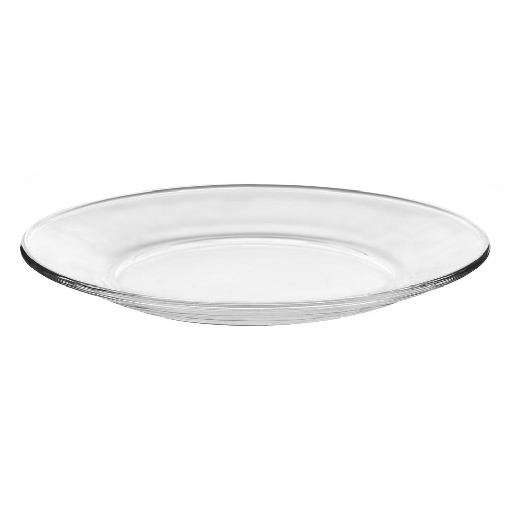 Libbey Moderno 12-Piece Clear Glass Salad or Dessert Plate Set  sc 1 st  Home Depot & Libbey Moderno 12-Piece Clear Glass Salad or Dessert Plate Set ...