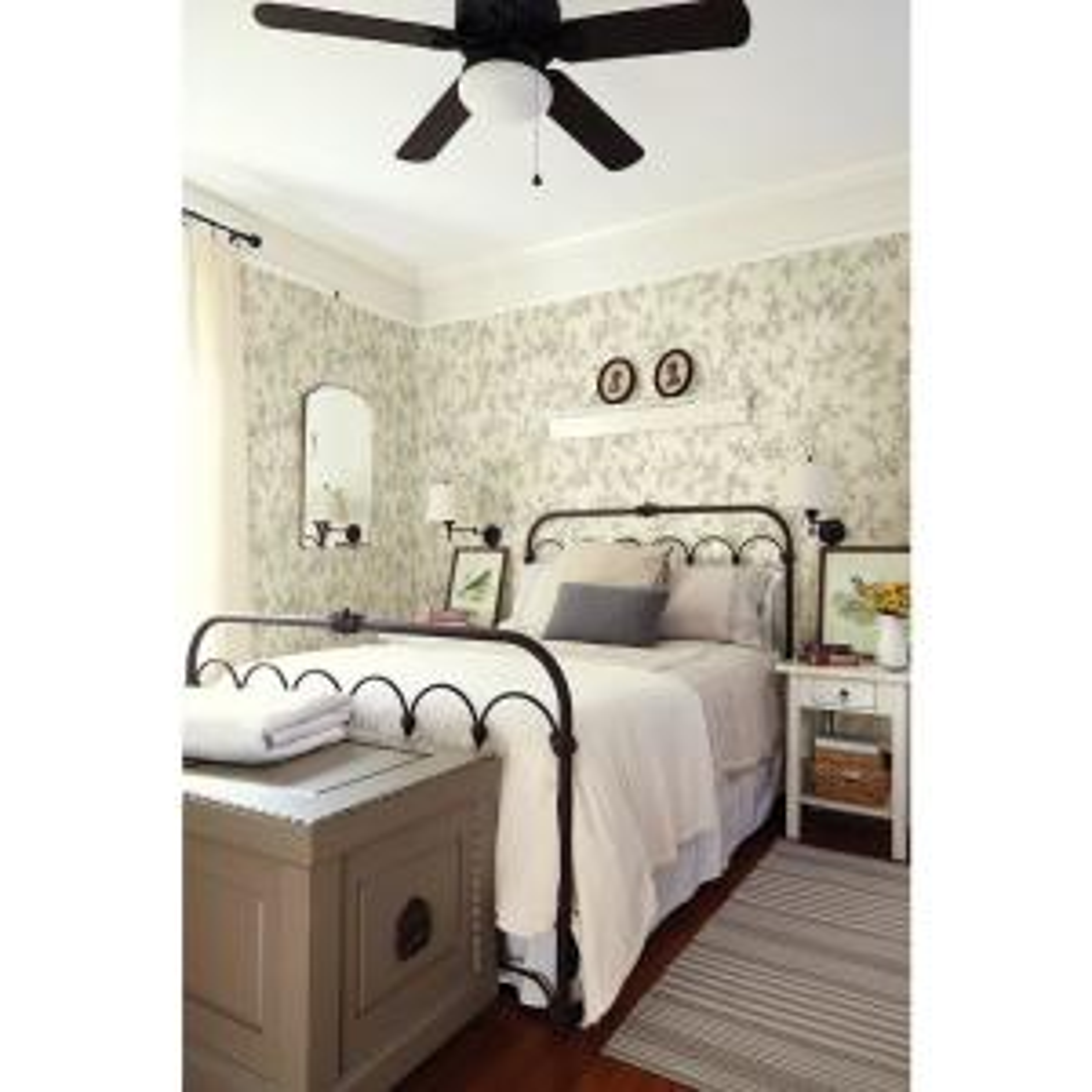 French Nightingale Cream Toile Wallpaper