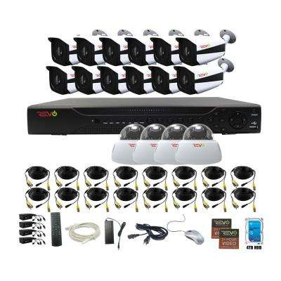 Aero HD 16-Channel 5MP 4TB Video Surveillance Security System with 16 Indoor/Outdoor Cameras