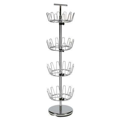 52.75 in. 4-Tier Shoe Tree in Chrome