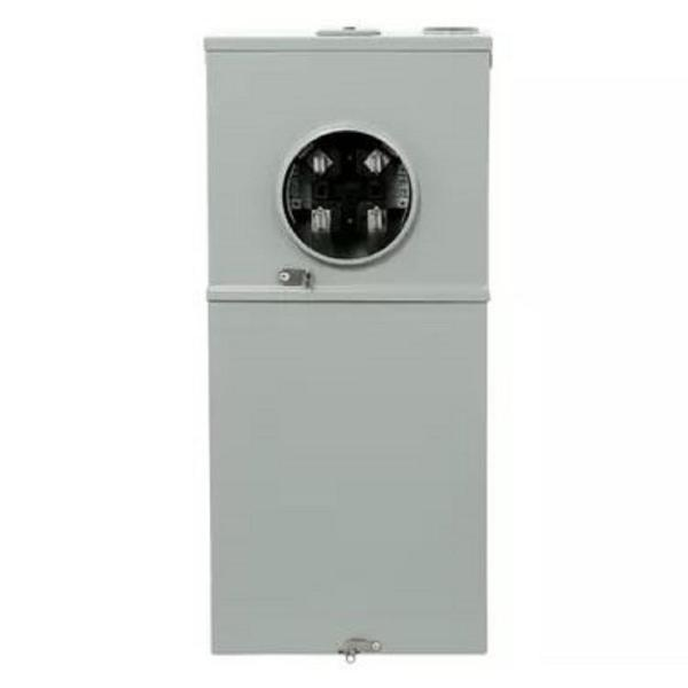 200 Amp 8 Space 16 Circuit Outdoor Combination Main Breaker Ringless Meter Socket Load Center