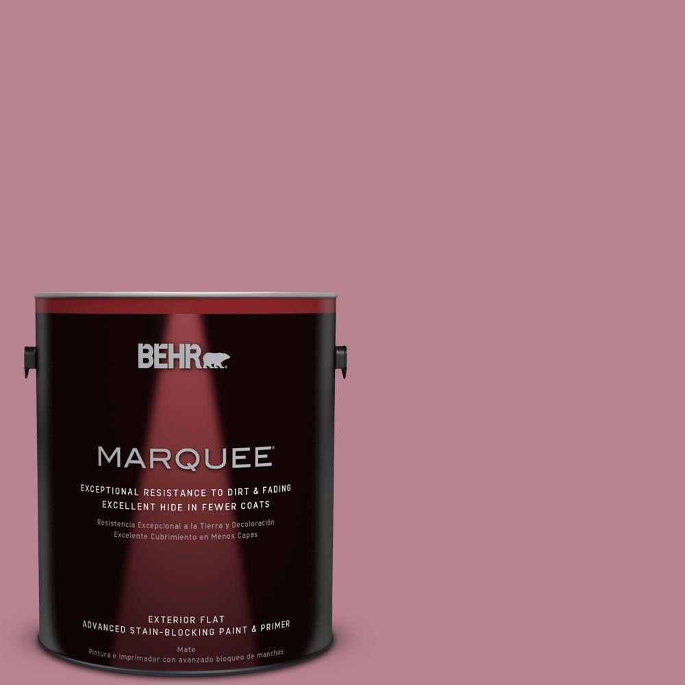1-gal. #BIC-19 Berry Blush Flat Exterior Paint