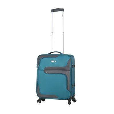 3D- City lightweight softside spinner 20 in. carry-on Turquoise