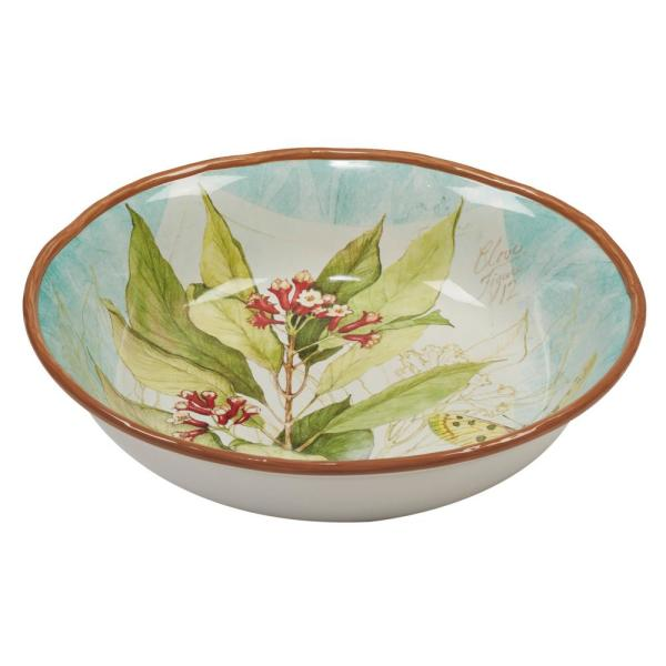Certified International Herb Blossoms Multi-Colored 13 in. x 3 in. Serving/Pasta