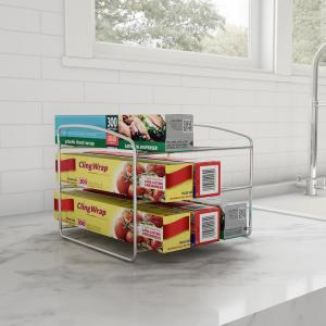 Lavish Home 3-Tier Chrome Kitchen Wrap Storage Rack Pantry ...