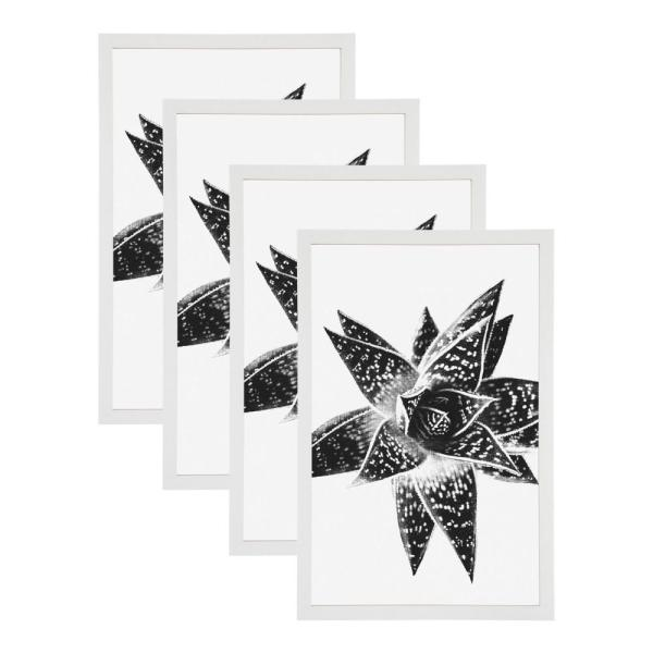 DesignOvation Gallery 11x17 White Picture Frame Set of 4 213610