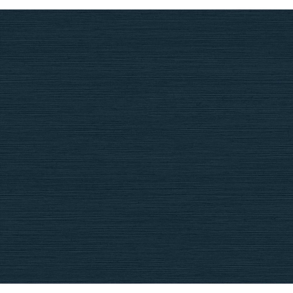 York Wallcoverings York Wallcoverings Dazzling Dimensions Shining Sisal Wallpaper, deepest blue/ metallic dark blue
