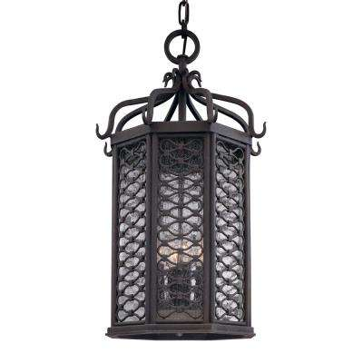 Los Olivos 4-Light Old Iron Outdoor Pendant