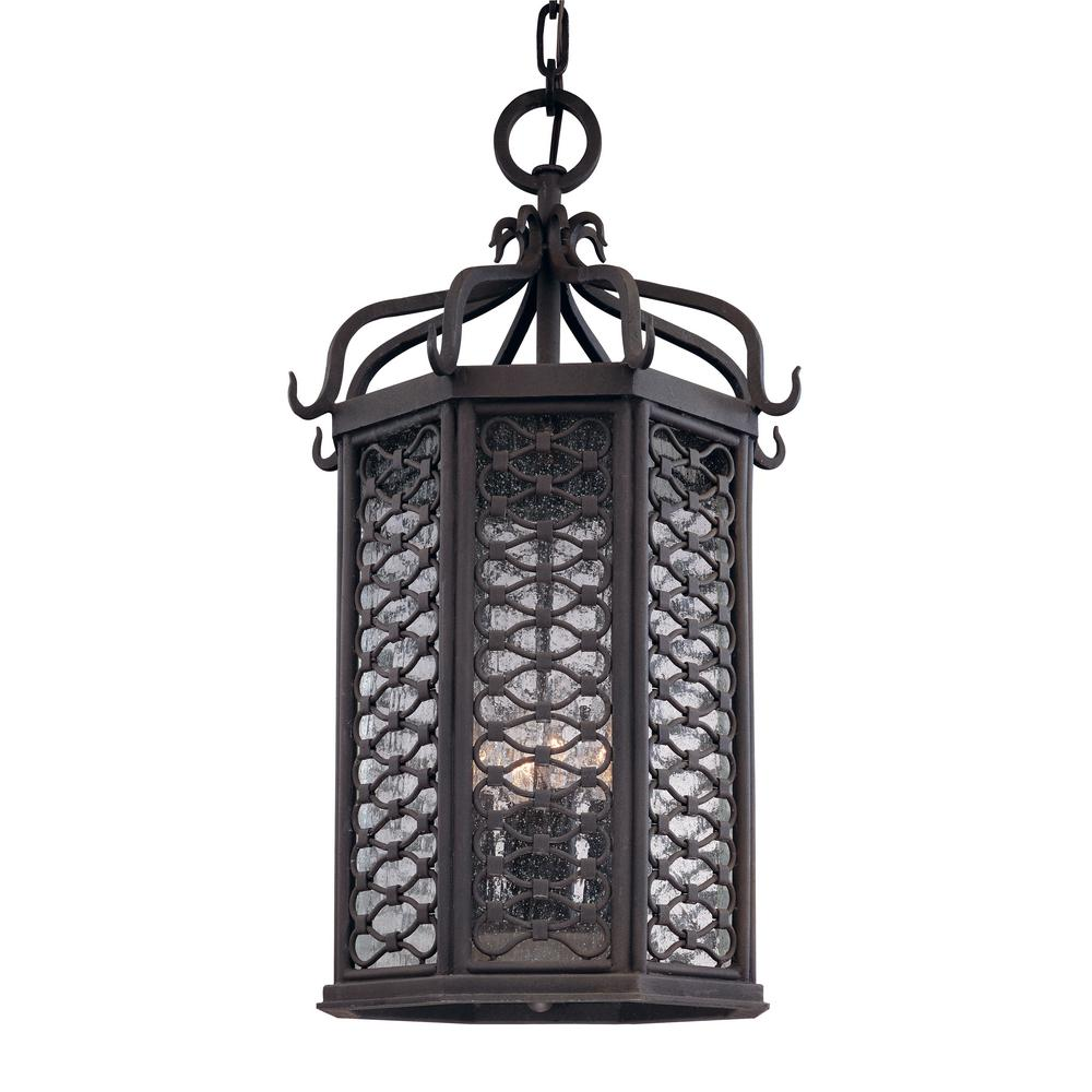 Troy Lighting Los Olivos 4-Light Old Iron Outdoor Pendant