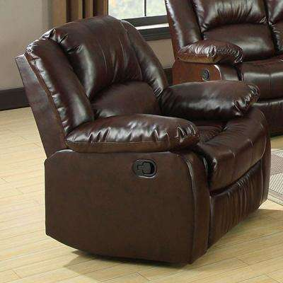 Winslow Transitional Style Brown Recliner
