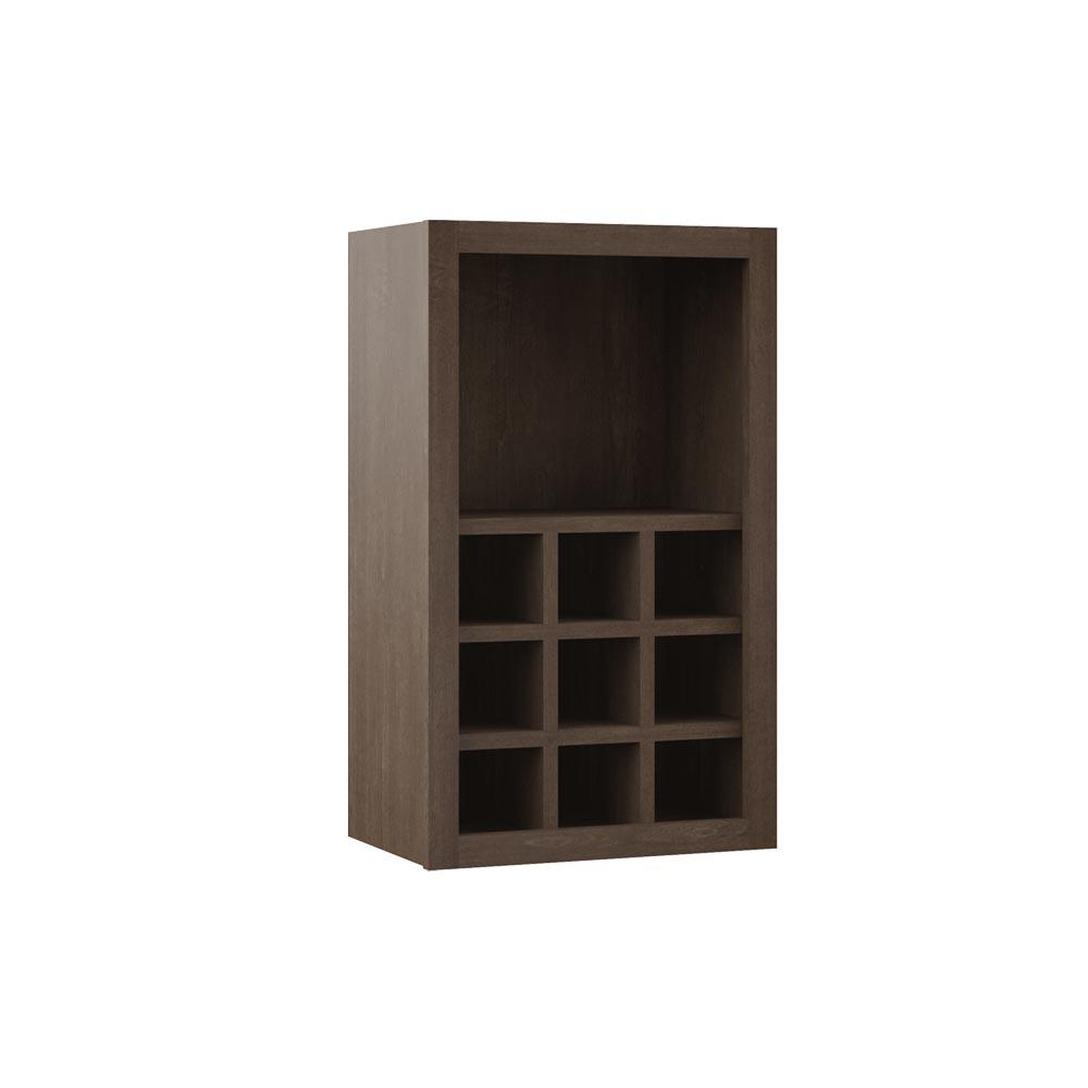 Hampton Bay Shaker Assembled 18x30x12 In Wall Flex Kitchen Cabinet With Shelves And Dividers In Brindle