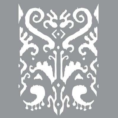 12 in. x 12 in.  Indian Ikat Stencil