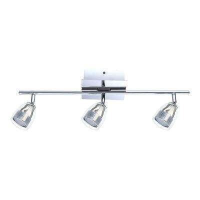 Pecero 2 ft. 3-Light Chrome LED Track Light