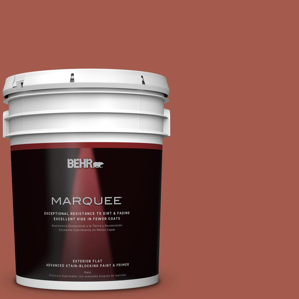 BEHR MARQUEE 5-gal. #PPU2-15 Cajun Red Flat Exterior Paint