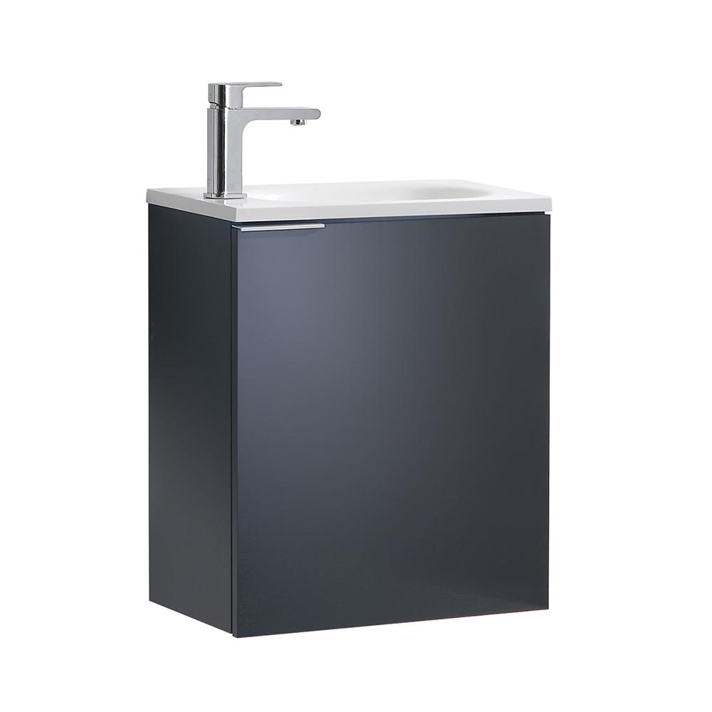 fresca valencia 20 in. w wall hung bathroom vanity in dark slate 20 Bathroom Vanity