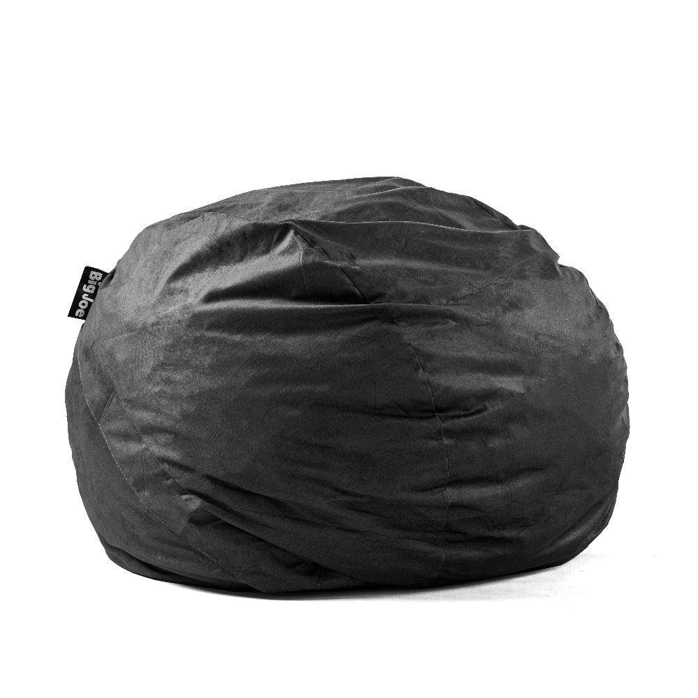 c3f5e16bd4 Big Joe King FUF Shredded Ahhsome Foam Black Lenox Bean Bag-0005655 - The  Home Depot