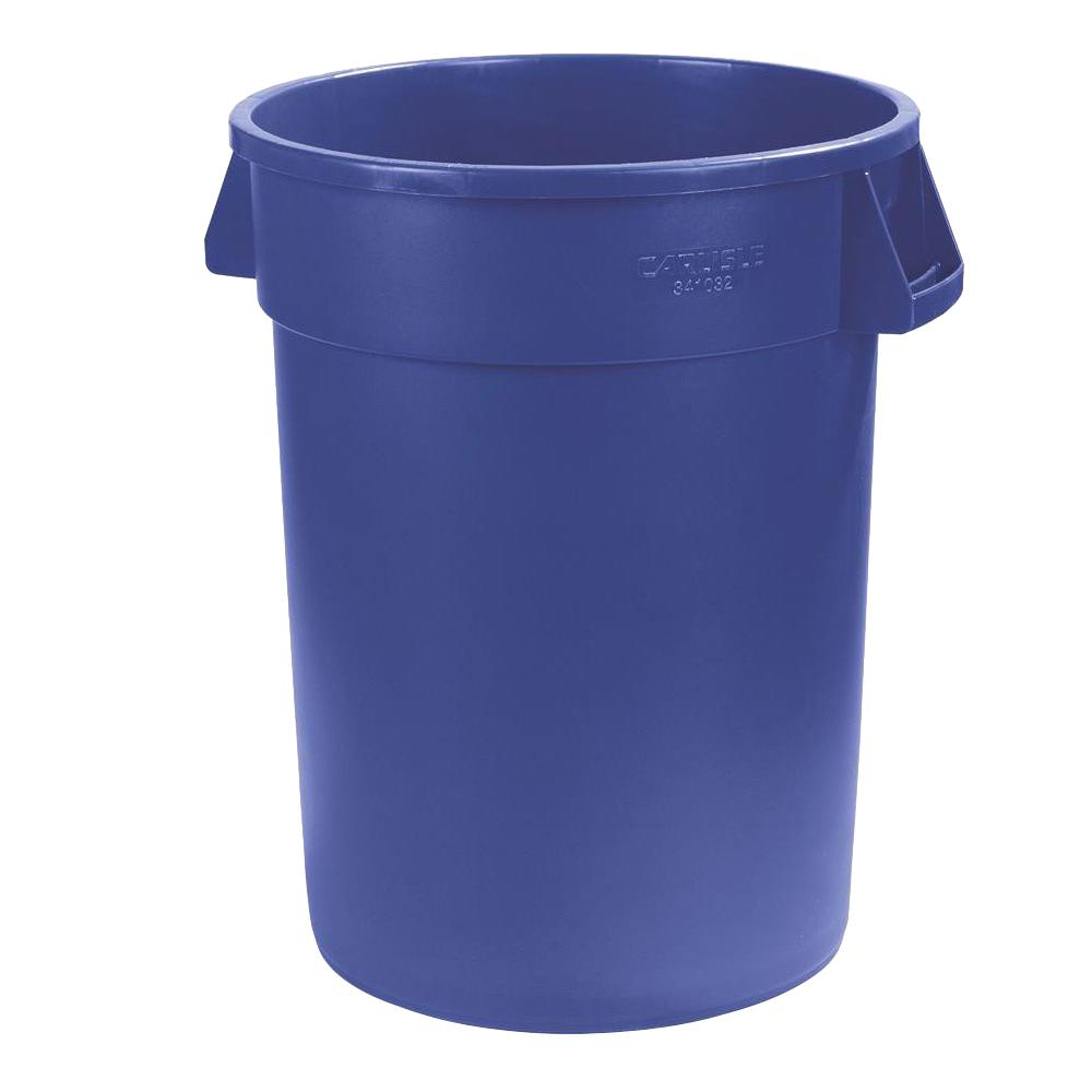 Carlisle Bronco 10 Gal. Blue Round Trash Can (6-Pack)